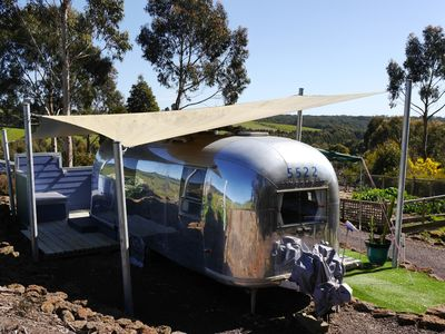 Highly polished 1966 retro Airstream with en-suite bathroom