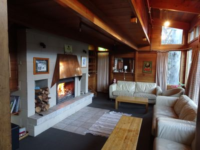 relax by the fire after skiing