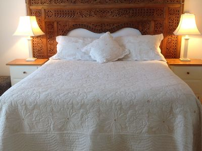Queen sized comfortable bed