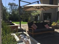 Outdoor seating / water feature