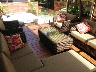 OUTDOOR SPA AND ALFRESCO AREA