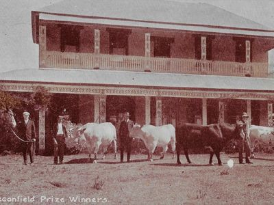 Historical phote - Reginald Wyndam and cattle at Leconfield House