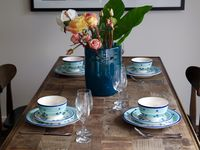 Our dining table can double up as great work and meeting space.