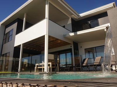 Stunning 2 storey brand new contemporary design with sprakling salt water pool