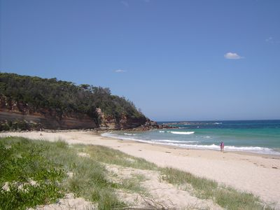 Narrawallee headland and beach - calm and uncrowded