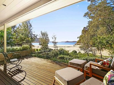 Private Deck overlooking Pearl Beach