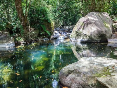 Daintree Secrets waterfalls iand swimming hole on the dry season