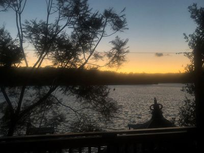 Sunset over Burrill Lake from Top Deck