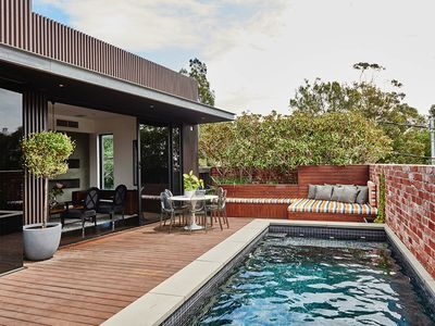You'll love the private roof deck and its lap pool