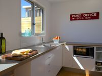 Fully equipped kitchen with beach views
