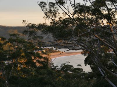View to beach at Sunrise