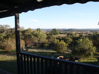 view from front verandah