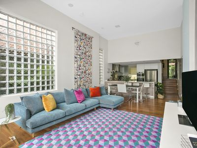 You'll love the colorful and stylish living area