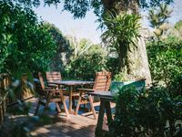 Our secret garden deck, for a more secluded feel