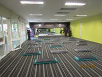 Fitness studio with many classes every day palates pump box fit Yoga etc