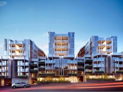 New apartment with modern architecture on Dudley Street. You won't miss it