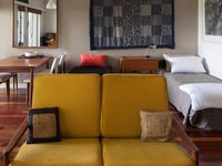 Living with fold out ottoman single bed