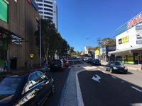 View Looking Up Ebley Street to Bronte Rd and Cock n Bull Hotel