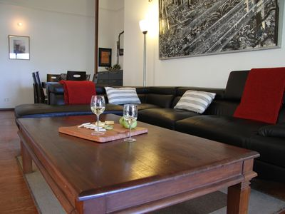 Open dining, living room