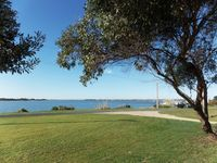 Front lawn views across the river to the Goolwa Regatta Yacht Club