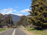 Winter view as you approach Harrietville