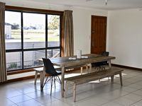Sociable bench style dining table