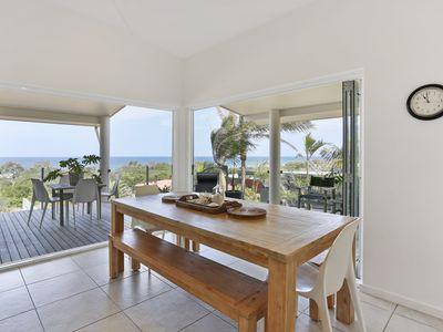 Ocean views from dining area
