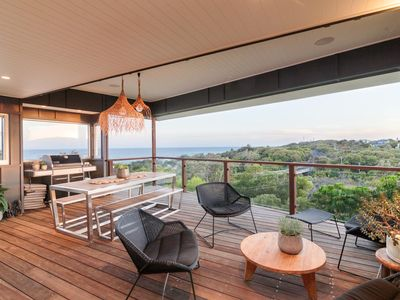 Ocean views from the furnished deck, a perfect place to sit and enjoy the view