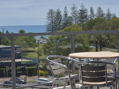 Enjoy beautiful views of the ocean and the hinterland