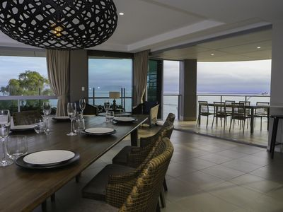 Aqua Aqua Luxury Penthouse 2 Open-plan Dining with Views of the Bay and Fraser I