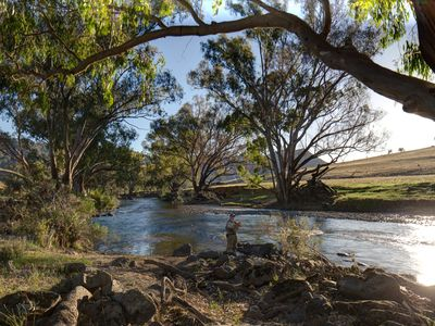 Fly fishing in the Goobarragandra River