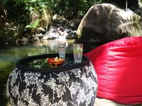 Relaxing by the swimming hole