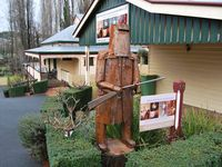 Front Entrance with Ned Kelly metal art Statue.