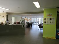 Health club reception cafe just sign in free to our guests we pay the membership