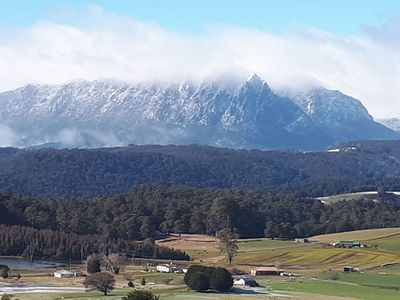 Mt Roland with a dusting of snow
