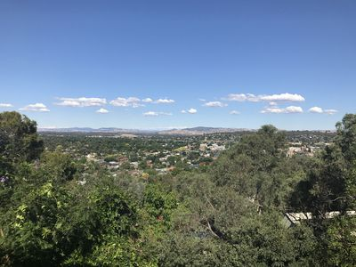 Sweeping views of Albury, pearched on the highpoint of Monument Hill