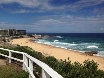 Newcastle beach - minutes walk from this apartment