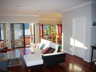 Sun Filled Lounge and Dining area with Escarpment Views