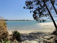 one of many secluded spots on the beach