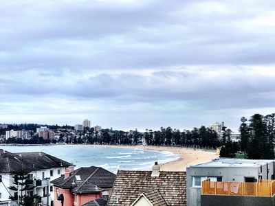 Actual view across Manly Beach