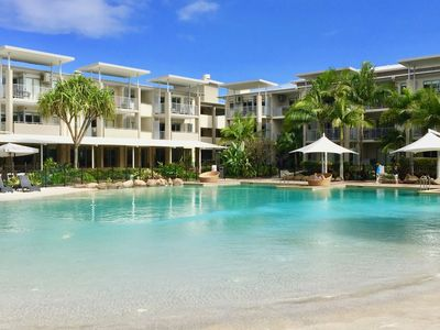 Lagoon Pool,  enjoy the sun lounges, love chairs, and Sandy Beach.