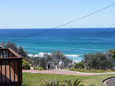 View of Rennies beach from balcony
