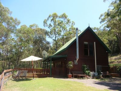 The red-cedar cabin in 6 acres of unspoilt bushland