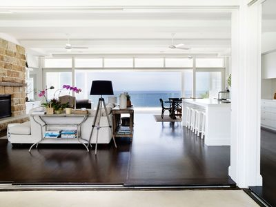 "Luxury Bungan Headland ""Hamptons"" beach house with expansive ocean views"