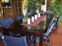Large outdoor table to enjoy meals