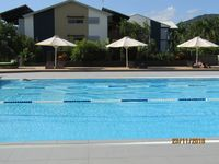 Health club 8 lane lap pool free to our guests