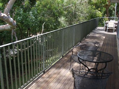 Deck with beautiful gum outlook