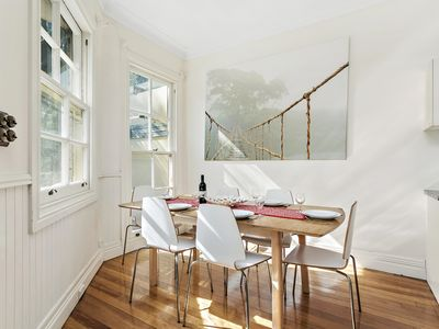 Lovely bright and sunny dining area