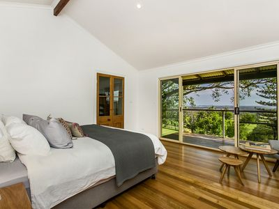 Ocean and hill views from your bed
