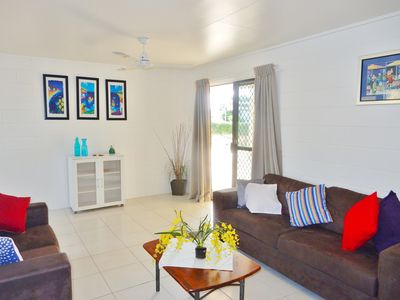 Spacious Air-conditioned Lounge area, TV, Dvd, Stereo